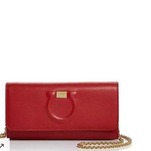 A Red brand New Salvatore Ferragamo crossbodody